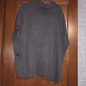 Old Navy Heathered Grey Sweater poncho